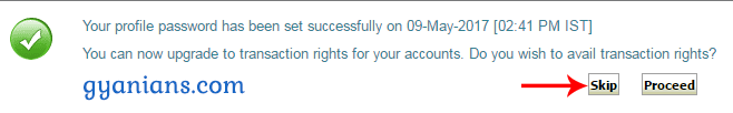 SBI Internet Banking Online Activate successfully
