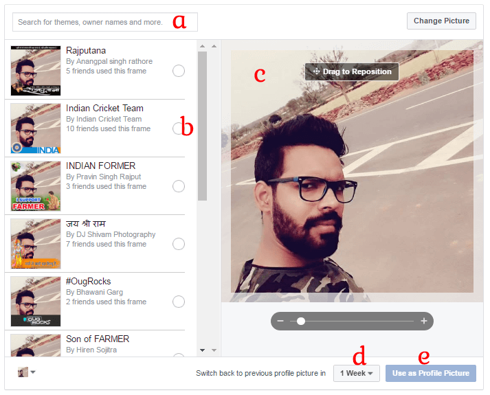how to set Facebook Profile Picture Frame in hindi