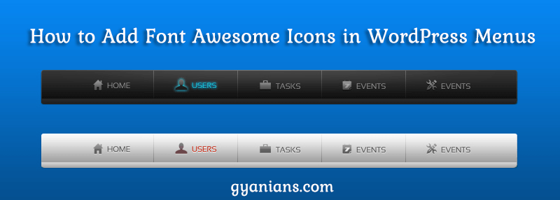 WordPress Menus Me Font Awesome Icons Kaise Add Kare