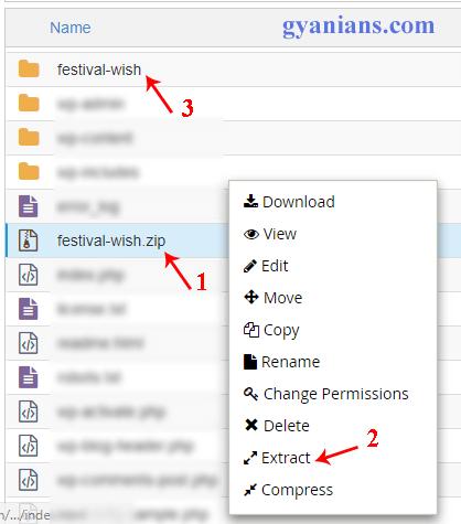 extract festival wish zip file