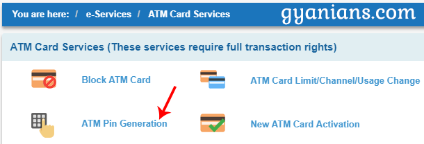 ATM Card Services