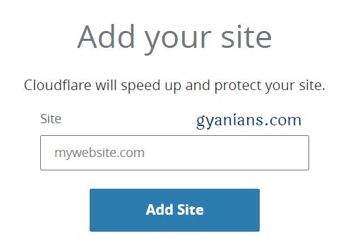 add site in cloudflare